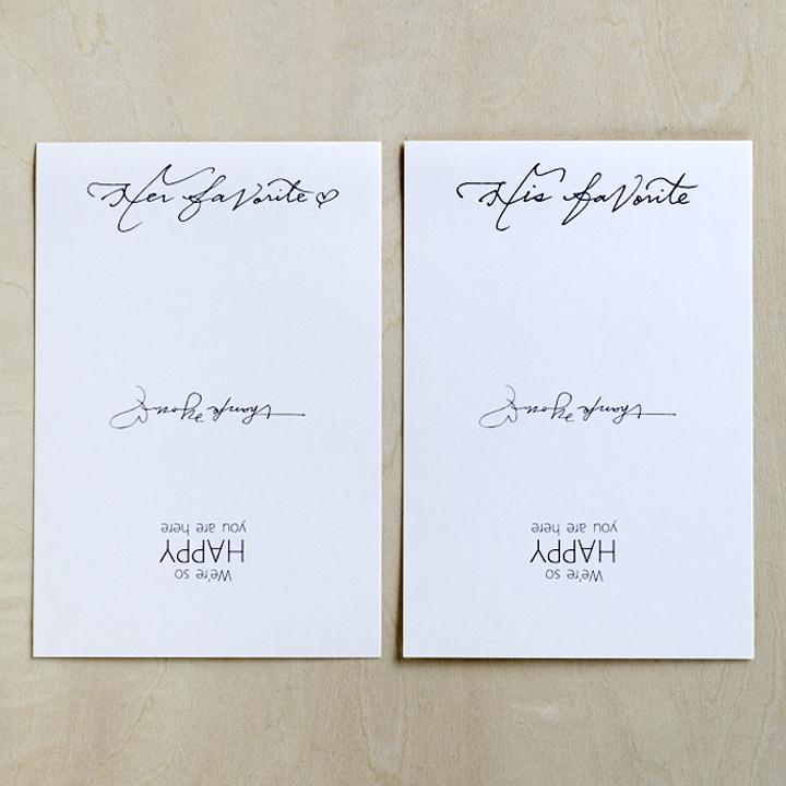 パッケージのデータをポストカードサイズの紙に印刷した様子