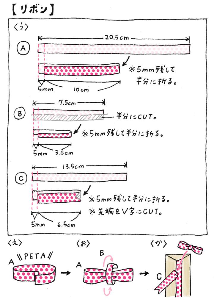 リボンの作り方