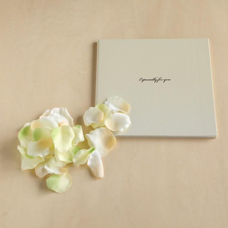 写真台紙、造花の花びら
