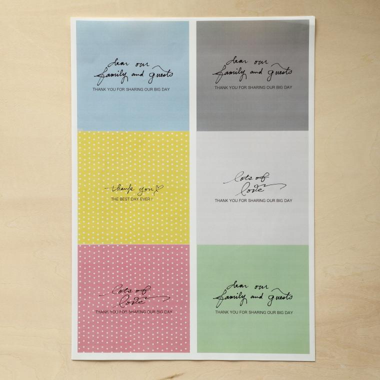 ダウンロードしたデザインを印刷した用紙