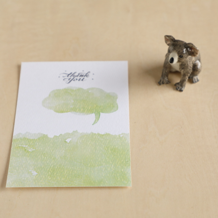 小さな動物モチーフ、はがきサイズの紙