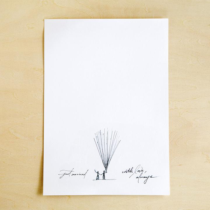 デザインを印刷した紙
