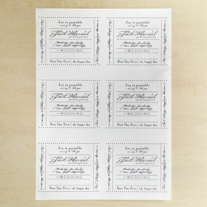 デザインを印刷したラベルシール