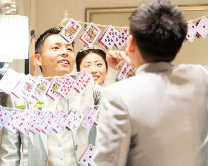 結婚式 サプライズプレゼント トランプレター
