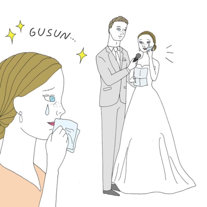 結婚式の感動演出ランキング第1位 花嫁の手紙