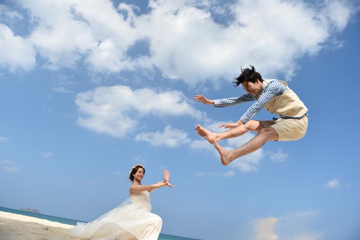 花嫁が新郎を吹き飛ばす!? 【波動拳】