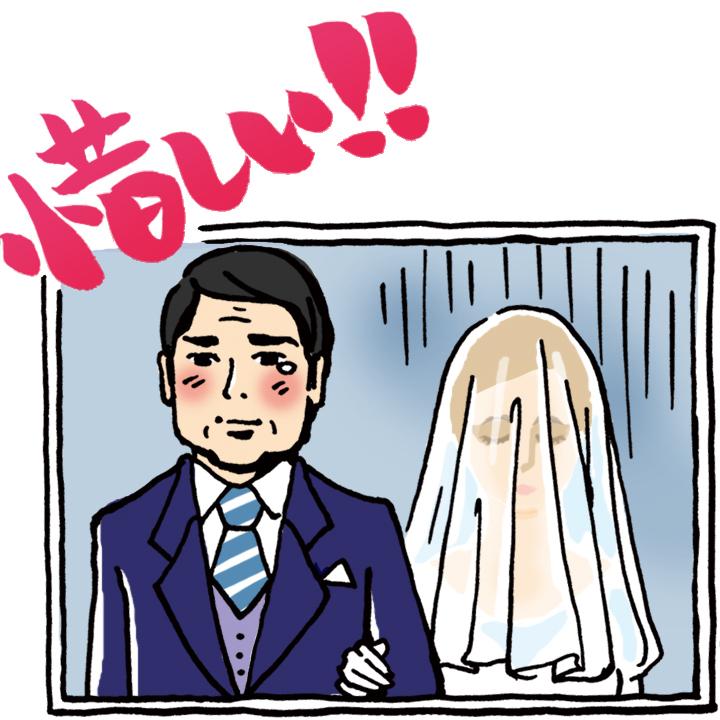 顔が隠れている花嫁