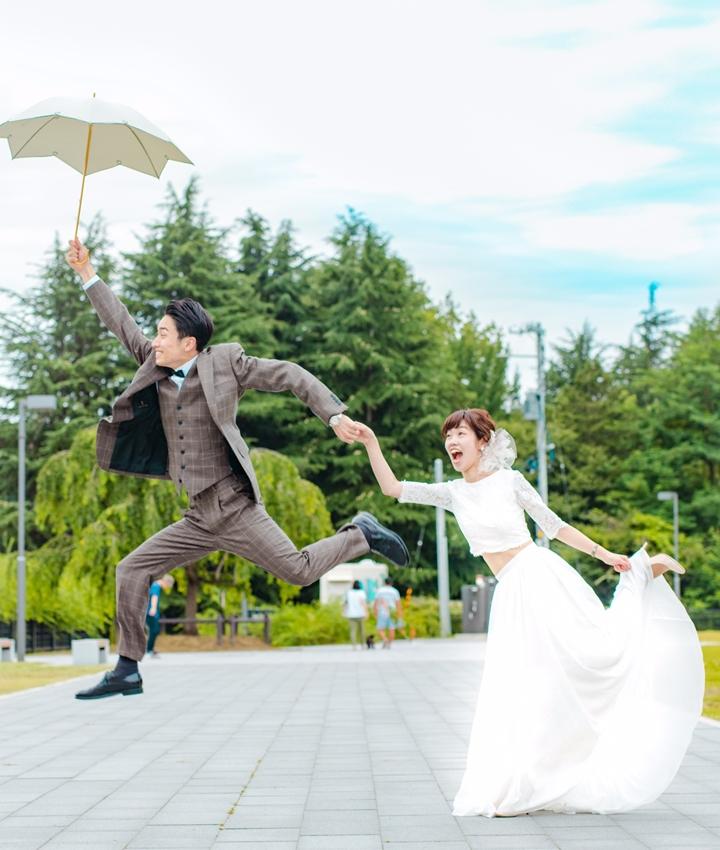 傘ジャンプ