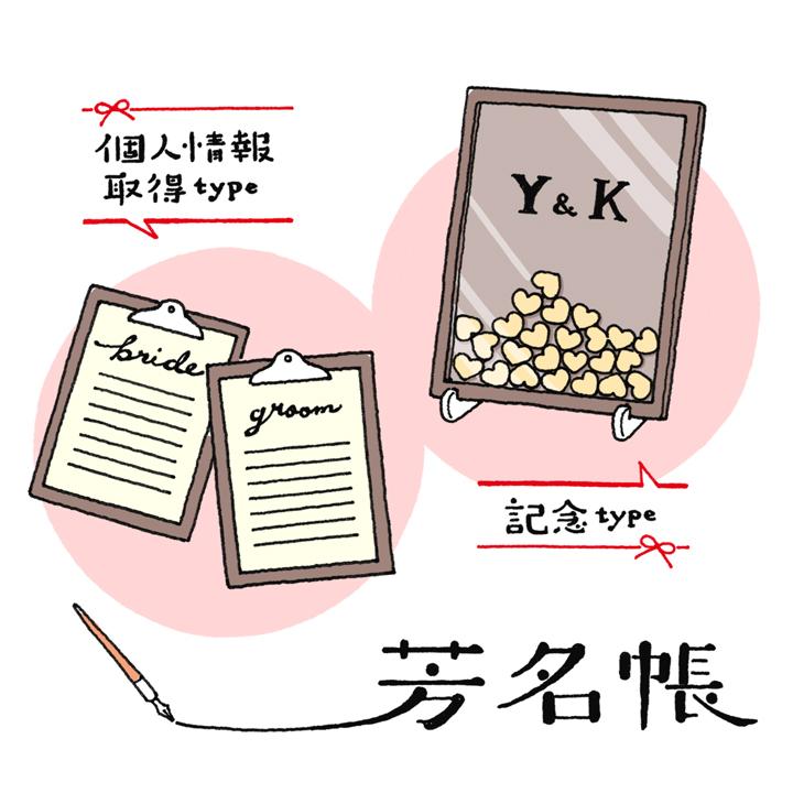 芳名帳イラスト