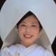 先輩花嫁の顔イラスト