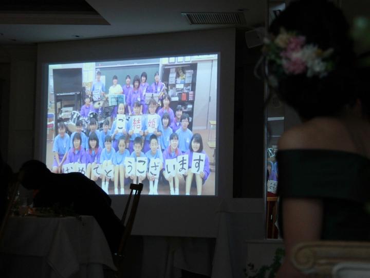 教え子出演ムービー&彼が花束を作るムービー1
