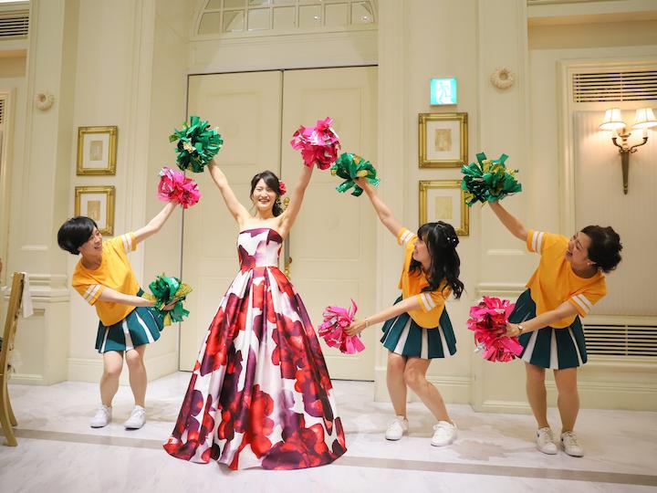 サプライズで花嫁参加のチアダンス3