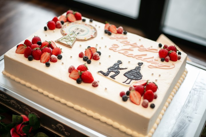 プロポーズシーン再現一段ケーキ