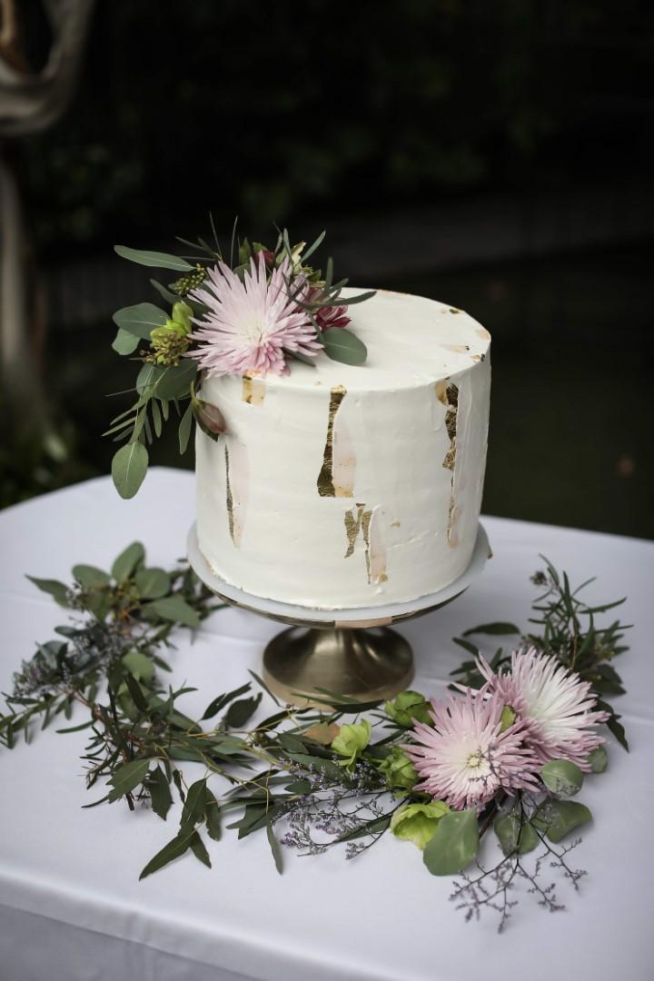 海外風ボタニカル一段ケーキ