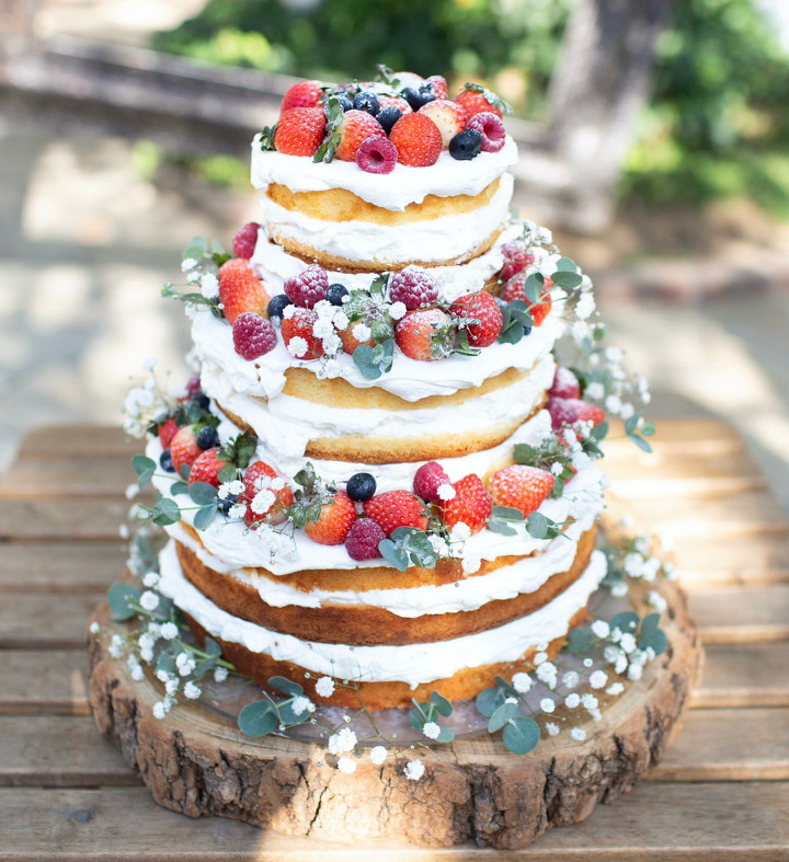 森のいちごネイキッドケーキ