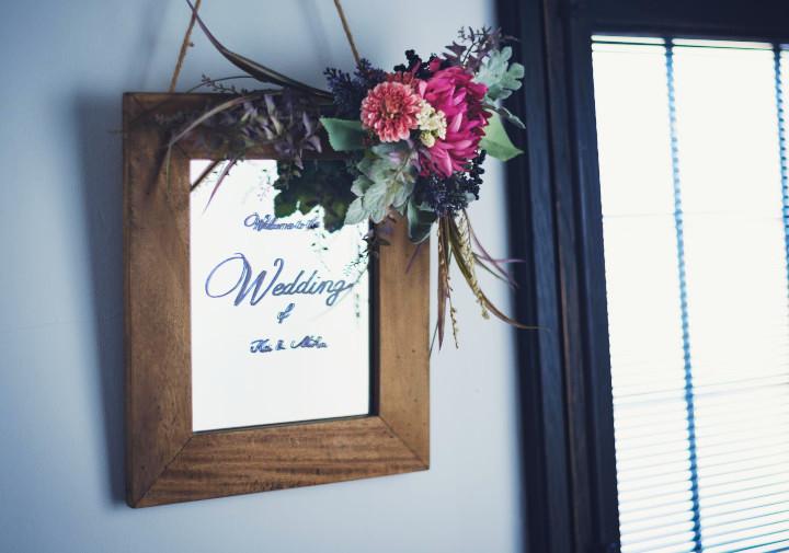 [手作り動画]失敗知らず!  ミラーを使ったウエルカムボードの作り方~DIY Wedding Items Vol.34~