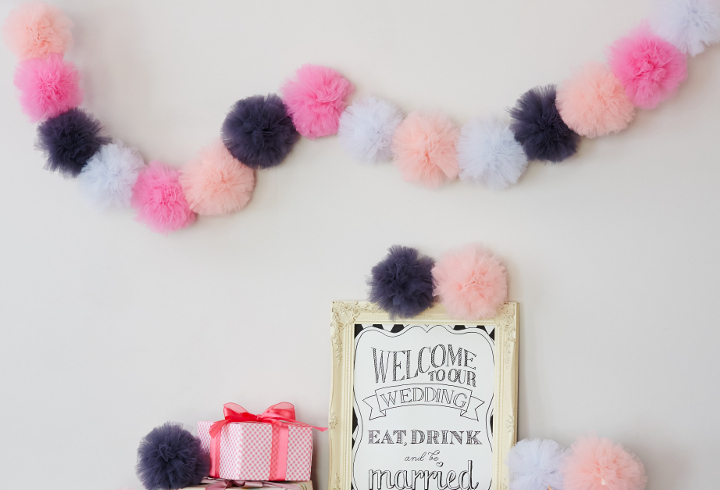 """[手作り動画]ふわ可愛あま~い """"チュールボンボン""""で叶えるウエルカムスペース~DIY Wedding Items vol.16~"""