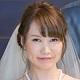 口角が上がった花嫁