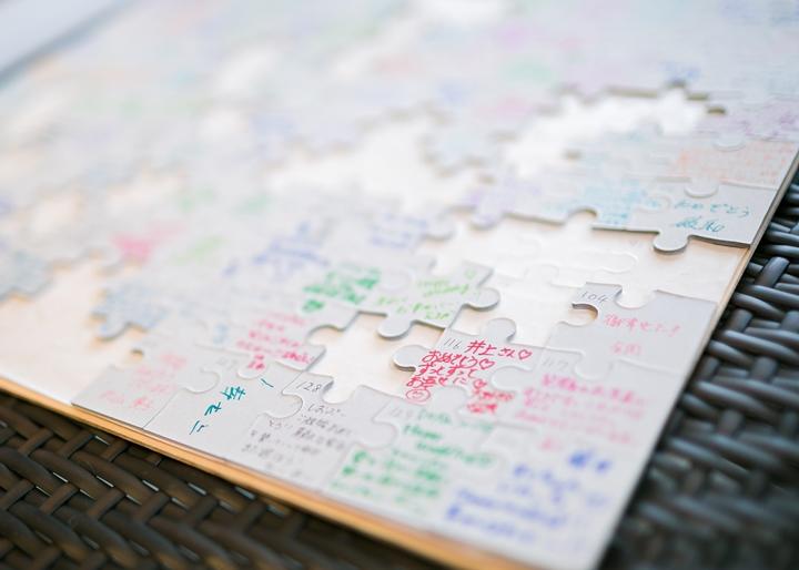 人生のピースを表現したパズル