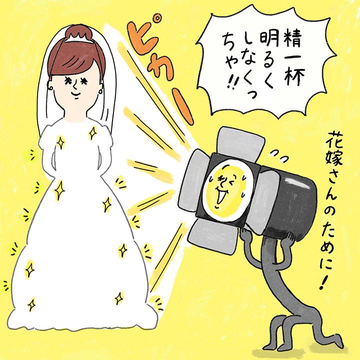 ドレスが白飛び!?イラスト