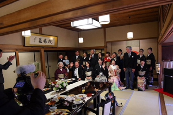 日本らしい会場で披露宴