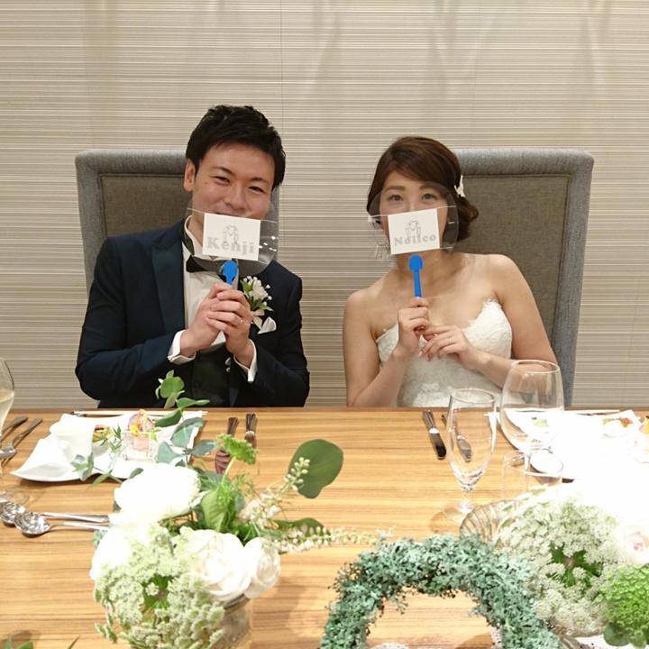 透明うちわ 結婚式 コロナ 感染対策