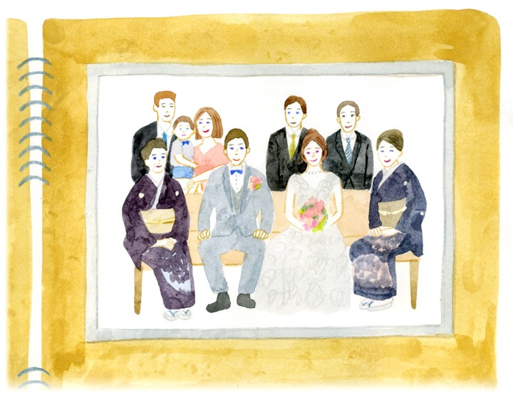 家族婚に参加した家族の様子