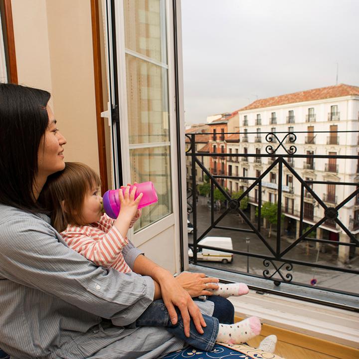 ホテル 母親と赤ちゃん