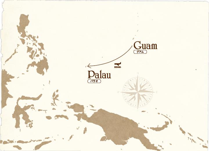 グアム~パラオのマップ