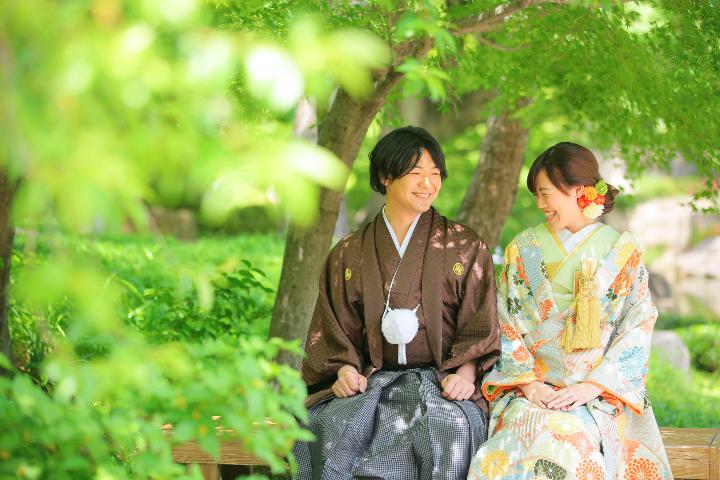 【ロケーション撮影2】和装が映える日本庭園